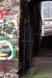 graffiti on a stone wall